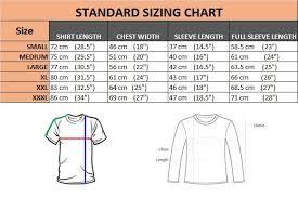 Mens T Shirt Size Chart Traditional Men T Shirt