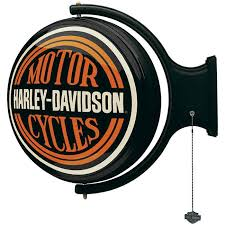 harley davidson motorcycles rotating pub light