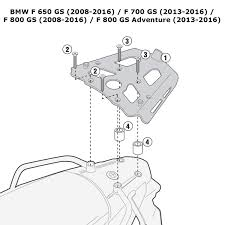 Kappa kra5103 bmw specific rear top box rack bmw f 650 700 800 gs adventure