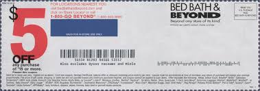 Bed Bath And Beyond Coupon 5 Off 2017