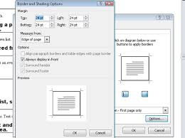 How To Add A Drop Down Box In Word How To Put A Border Around A Page Of A Word 2010 Document Dummies
