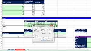 Basic Excel Business Analytics 66 Monte Carlo Simulation For New Product 3 Uncertain Variables