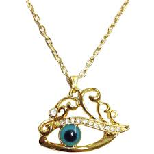evil eye gold necklace pendant