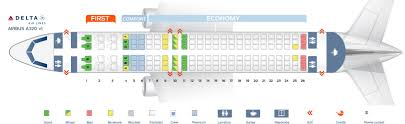 Delta Airbus A320 Seating Chart Seat Map Airbus A320 200 Delta Airlines Best Seats In Plane