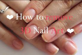 How To Remove 3D Nail Art - YouTube