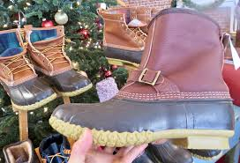 tumbled leather l l bean boot lounger 134 made in maine with those details like triple stitching steel shank support rubber chain tread outsole tumbled