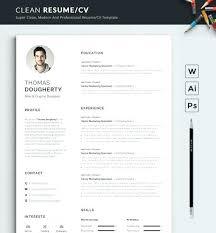 modern clean resume template clean resume template clean resume template design in free