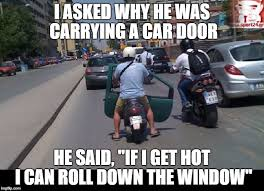 carrying a car door