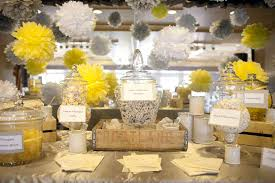 ... Stunning Wedding Table Decoration With Yellow Centerpiece Decor :  Delightful Accessories For Yellow Dining Table Design ...