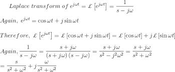 Laplace Transform Table Formula Examples Properties