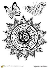 Coloriage D Un Superbe Mandala Tr S Complexe Avec Un M Lange De Fleurs