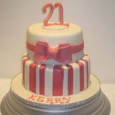 Two Tier Girl 21st Birthday Cake Neo Cakes