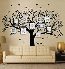 anber family tree wall decal butterflies and birds wall decal vinyl wall art photo frame tree on family tree wall art picture frame with amazon anber family tree wall decal butterflies and birds wall