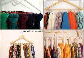 Hangers Organizing Scarves