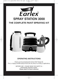 Earlex 3000 Operating Instructions Manualzz Com