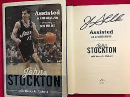 SIGNED <b>JOHN STOCKTON</b> Assisted,An Autobiography HCDJ 1ST ...