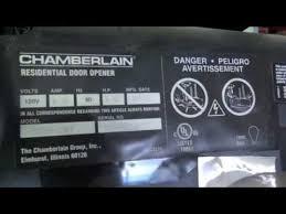 chamberlain garage door opener myqLocating the model number of your garagae door opener  YouTube