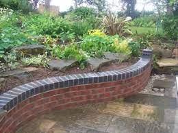 ideas garden beds brick retaining walls