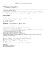 Administration Resume Templates Medical Office Administration Resume Templates At