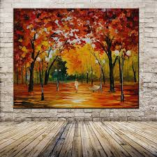hand painted abstract oil painting palette knife thick paint bright in colour modern home canvas living