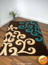 turquoise brown rug viola brown cream turquoise rug available in two sizes turquoise and brown round