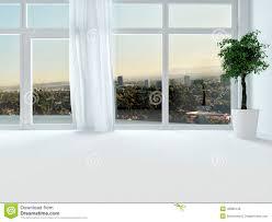 Ansicht Durch Die Fenster Einer Städtischen Wohnung Stock Abbildung