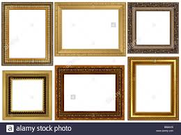 white antique picture frames. Antique Frames Collection Isolated On White Background - Stock Image Antique Picture T