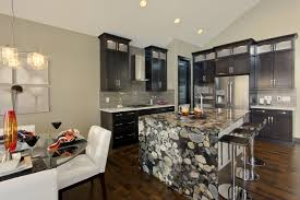 Natural Stone Kitchen Floor Natural Stone Granite Countertop With Waterfall For Downstairs Bar