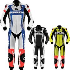 Spidi Warrior Wind Pro Leather Mens Motorcycle Race Suits