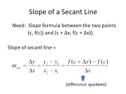 2 slope of a secant