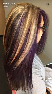 Purple and blonde hair | hair | Pinterest | Blondes, Hair coloring ...