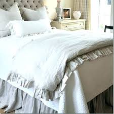 pottery barn queen bed french ruffled washed linen duvet cover king size flax bedding queen bed