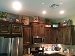 above kitchen cabinets decor