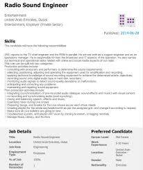 Sound Engineer Cover Letter Free Resume Templates