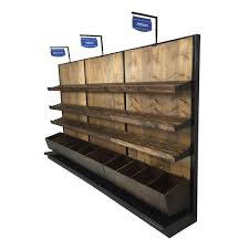 Bakery Display Stands Bread Display Rack Wood Wall Gondola Unit DGS Retail 8