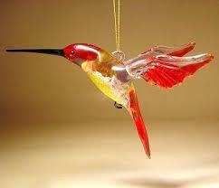 blown glass hummingbird ornament ornaments tree green and yellow glass hummingbird ornament ornaments tree hanging