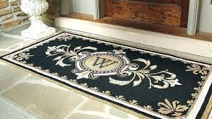 doormat size monogrammed door mat monogrammed door mat large size of area area rug initial outdoor doormat size door