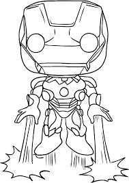 Disegno Di Iron Man Di Funko Avengers Endgame Da Colorare