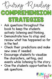 comprehension strategies during reading
