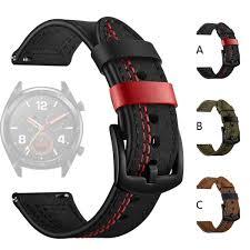senarai harga smarch smartband fashion replacement leather watch band wrist strap for huawei watch gt 22mm smart watch watches straps terbaru di