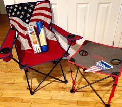 my patriotic folding chair and table for our american gladiators themed team