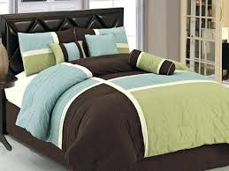 king duvet covers with brown and blue mattress design also glass windows plus brown wooden cabinet