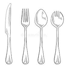 kitchen utensils drawing. Download Eating Utensils Drawing Stock Vector. Illustration Of Breakfast - 22406236 Kitchen B