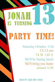 Free Online Party Invitations With Rsvp Free 13th Birthday Invitations Birthday Invitations Boy Templates