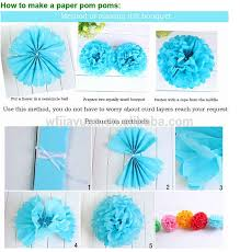 How To Make Tissue Ball Decorations