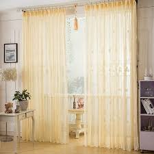 asian beige color elegant lace curtain living room sheer curtain in uk style