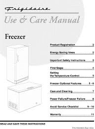 Frigidaire Freezer Warning Lights Frigidaire Upright Freezer Manual L0402274