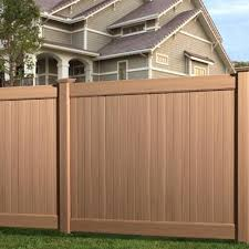 brown vinyl fence panels. Brown Vinyl Fence Solid Privacy 6 Foot Panels