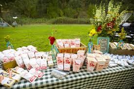 picnic wedding reception. Ruffled Blue and Red Checkered Sacramento California Backyard