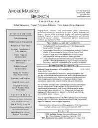 Legislative Analyst Sample Resume
